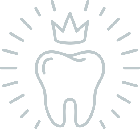 tooth with crown icon