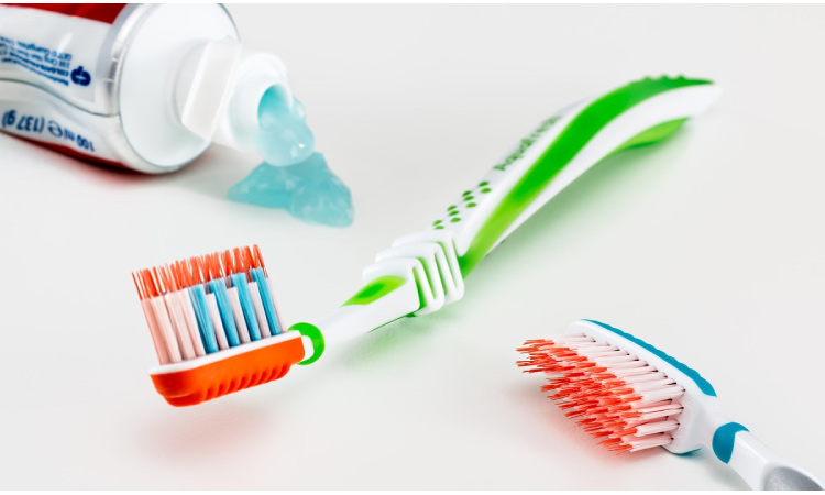 soft and firm toothbrushes and toothpaste