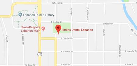 Lebanon Smiles Dental map