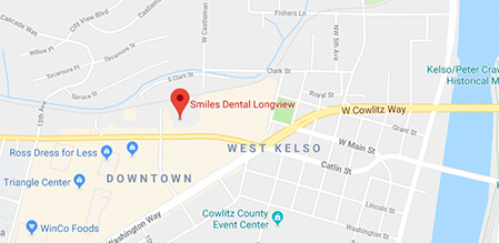 Longview Smiles Dental map