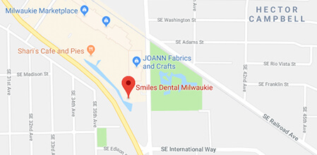 Milwaukie Smiles Dental map