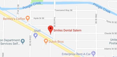 Salem Smiles Dental map