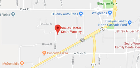 Sedro-Woolley Smiles Dental map