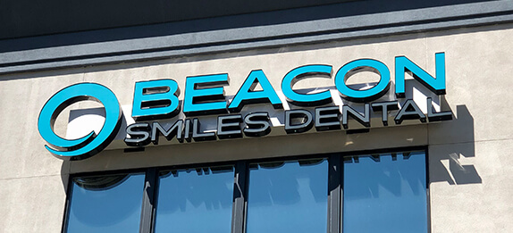 front of Beacon Smiles Dental office