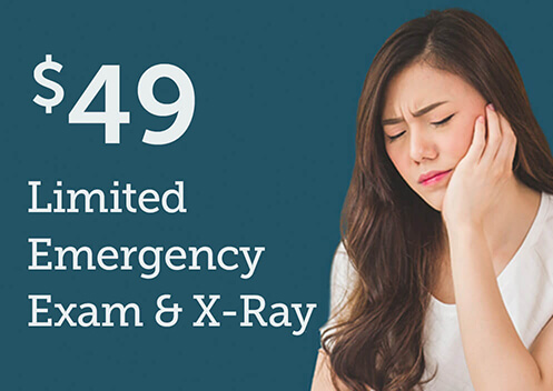 $49 Limited Emergency Exam & X-Ray